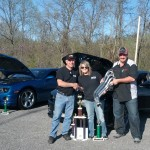 L to R Kevin Cradduck of Nitroplate Tammy and Jeff Mayes winner of the headers from Dynatech
