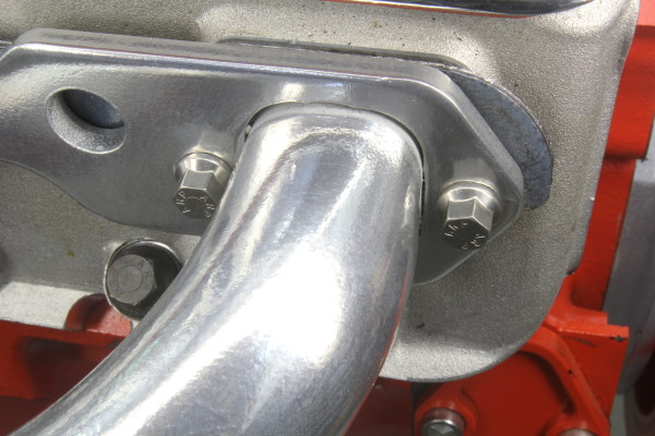 Installation with new ARP stainless header bolts